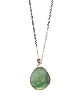 Jamie Joseph  - Rose Cut Emerald Pendant