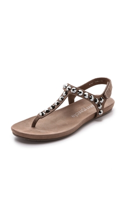 Pedro Garcia  - Judith Suede T-Strap Sandals