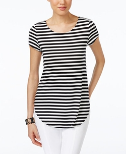 Alfani  - Striped Asymmetrical Top