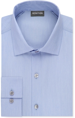 Kenneth Cole Reaction - Techni-Cole Stretch Slim-Fit Solid Dress Shirt