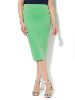 7th Avenue Design Studio - Scuba Pencil Midi Skirt