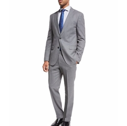 Boss Hugo Boss  - Mini-Check Wool Two-Piece Suit