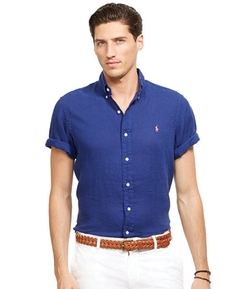 Polo Ralph Lauren  - Short-Sleeved Linen Shirt