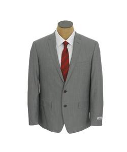 DKNY - Sharkskin Skinny Fit Wool Suit