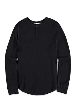 21 Men - Paneled Thermal Henley Shirt
