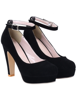 Romwe - Ankle Strap High Heel Pumps