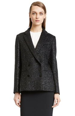 Cédric Charlier - Double Breasted Shimmer Wool Blend Jacket
