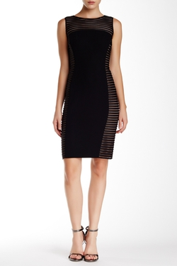 Carmen Marc Valvo - Mesh Bodycon Dress