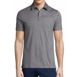 Michael Kors - Cotton/Silk Short-Sleeve Polo Shirt