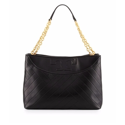 Tory Burch  - Alexa Quilted Leather Tote Bag
