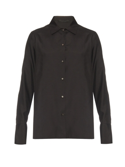 The Row - Marfa Silk-Poplin Blouse