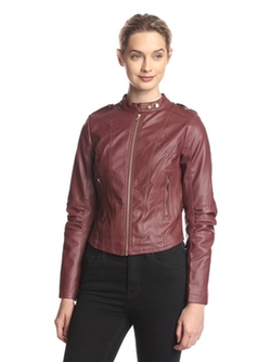 Miss London  - Faux Leather Moto Jacket