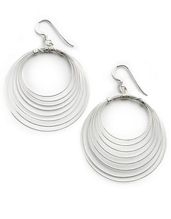 Lord & Taylor  - Sterling Silver Orbital Wire Earrings