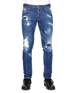 Dsquared2 - Cool Guy Destroyed Patchwork Denim Jeans