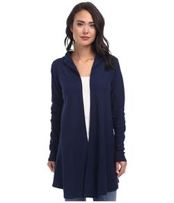 Allen Allen - Hooded Open Cardigan Sweater