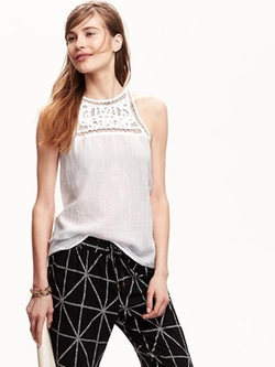 Old NAvy - Lace-Yoke Tank