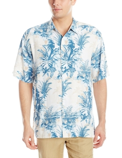 Cubavera - All-Over Foliage Print Woven Shirt