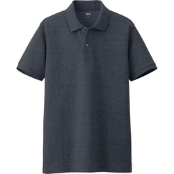 Uniqlo - Men Dry Pique Short Sleeve Polo Shirt