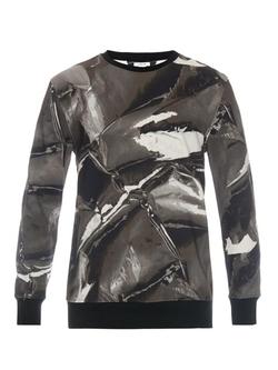 Helmut Lang - Arial-Print Jersey Sweatshirt