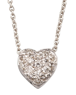 Roberto Coin  - Pave Heart Necklace