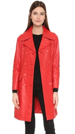 Boutique Moschino  - Leather Trench Coat