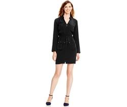 Alfani  - Tab-Sleeve Utility Dress