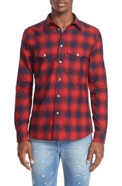 Givenchy  - Plaid Flannel Western Shirt