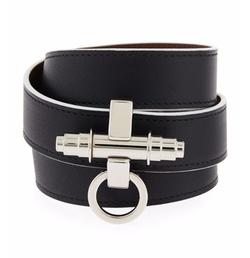 Givenchy - Obsedia Leather Wrap Bracelet