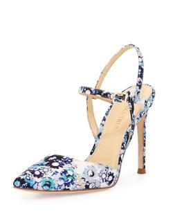 Ivanka Trump   - Geva Floral-Print Fabric Pumps