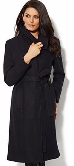 New York & Company - Shawl-Collar Wool-Blend Coat