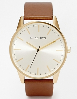 Unknown - Tan Leather Strap Watch