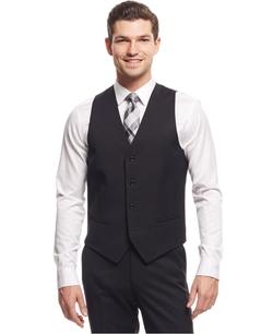 Alfani Red - Traveler Solid Slim-Fit Vest