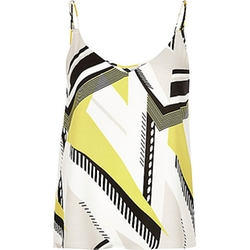 River Island - Geometric Print Double Strap Cami Top