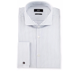 Hugo Boss - Jaiden Slim-Fit Track-Stripe French-Cuff Dress Shirt