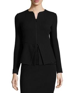 Armani Collezioni - Zip-Front Cutaway-Bottom Jacket