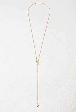 Forever 21 - Cutout Triangle Lariat Necklace