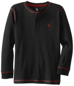 U.S. Polo Assn. - Interlock Cotton Long-Sleeve Henley Shirt