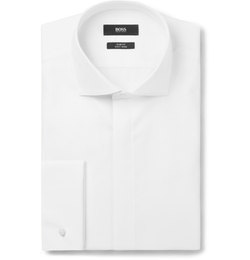 Hugo Boss - Jonathan Slim-Fit Double-Cuff Cotton-Poplin Dinner Shirt