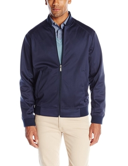 Perry Ellis - Full Zip Neoprene Bomber Jacket