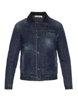 Bottega Veneta - Suede-Collar Denim Jacket