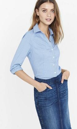 Express - Outline Stripe Essential Shirt