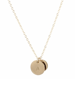 Peggy Li - Round Gold Initial Necklace