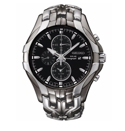 Seiko - Chronograph Solar Excelsior Two-Tone Bracelet Watch