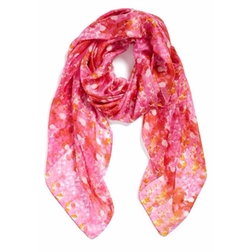 La Fiorentina - Abstract Print Silk Scarf