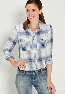 Maurices - Button Down Plaid Shirt
