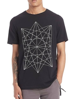 Saks Fifth Avenue Collection  - Elongated Printed Tee