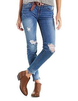 Charlotte Russe - Sneak Peek Distressed Skinny Jeans