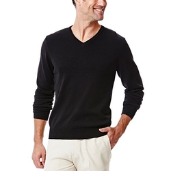 Haggar - Textured V-Neck Sweater