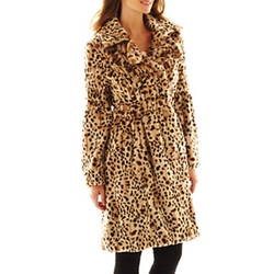 Excelled - Faux-Fur Swing Coat