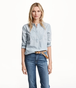 H&M - Denim Blouse